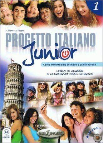 Progetto italiano junior 1. Podręcznik, - okładka podręcznika