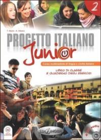 Progetto Italiano junior 2. Podręcznik - okładka podręcznika