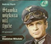 Stawka większa niż życie. Czyta: Stanisław Mikulski (3 CD audio mp3) - pudełko audiobooku