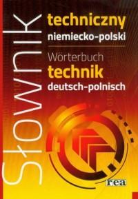 Słownik techniczny niemiecko-polski - okładka książki