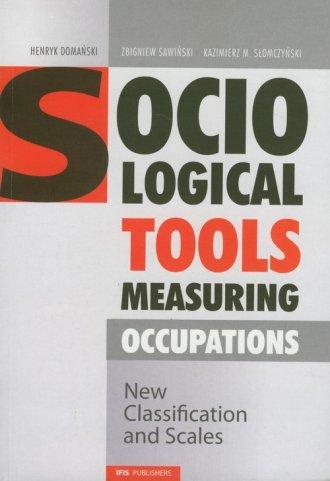 Socialogical tools measuring occupations - okładka książki