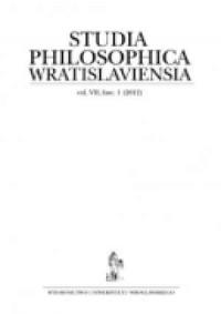 Studia Philosophica Wratislaviensia. Vol. VII, fasc. 1 (2012) - okładka książki