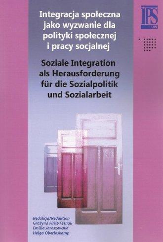 Integracja społeczna jako wyzwanie - okładka książki