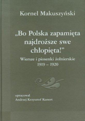 Bo Polska zapamięta najdroższe - okładka książki