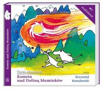 Kometa nad Doliną Muminków - pudełko audiobooku