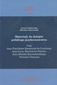 Materiały do dziejów polskiego językoznawstwa - okładka książki