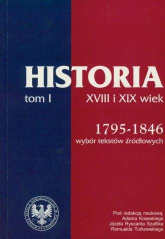 Źródła do dziejów Polski w XIX - okładka książki