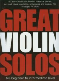 Great violin solos - okładka książki