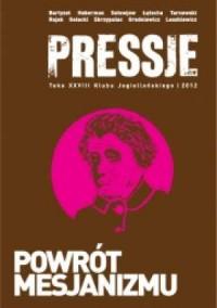 Pressje (28) Powrót mesjanizmu - okładka książki