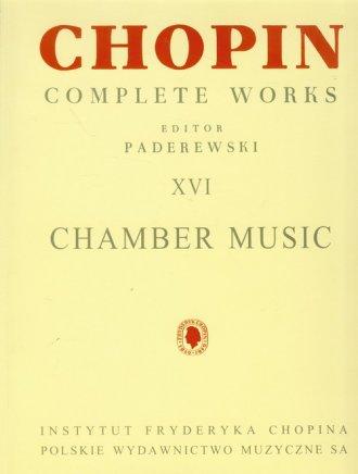 Utwory kameralne CW XVI Chopin - okładka książki