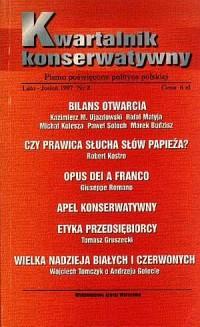 Kwartalnik Konserwatywny nr 2 (lato-jesień) - okładka książki