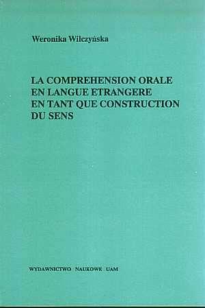 La compréhension orale en langue - okładka książki