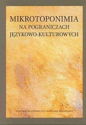 Mikrotoponimia na pograniczach - okładka książki