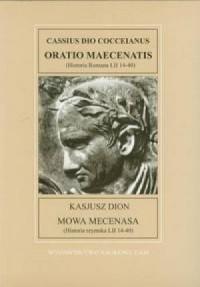 Mowa Mecenasa. Fontes Historiae Antiquae V - okładka książki