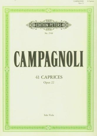 41 Caprices Opus 22 - okładka książki