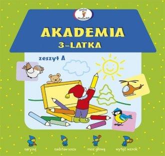 Akademia 3-latka. Zeszyt A - okładka podręcznika