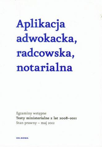 Aplikacja adwokacka, radcowska, - okładka książki