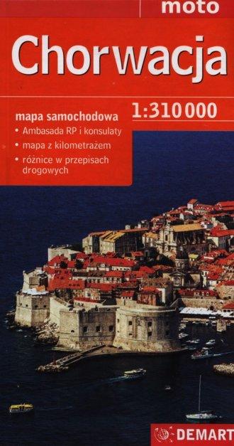 Chorwacja. Mapa samochodowa (skala - okładka książki