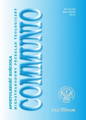 Communio nr 2(178)/2012. Apostolskość - okładka książki