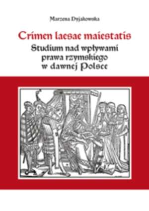Crimen laesae maiestatis. Studium - okładka książki