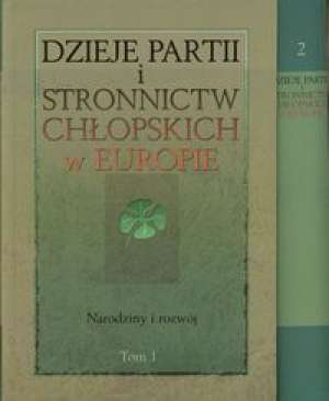Dzieje partii i stronnictw chłopskich - okładka książki