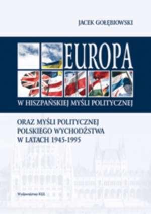Europa w hiszpańskiej myśli politycznej - okładka książki