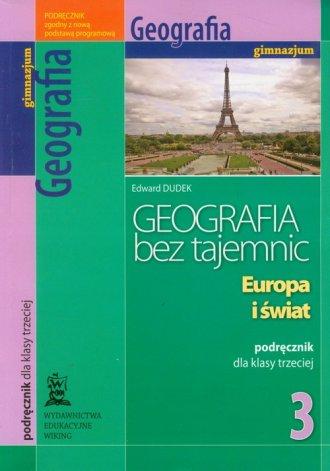 Geografia bez tajemnic. Europa - okładka podręcznika
