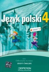 Język polski. Klasa 4. Szkoła podstawowa. Zeszyt ćwiczeń - okładka podręcznika