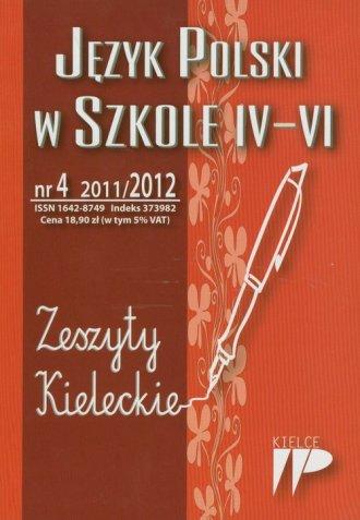 Język Polski w Szkole 4-6. Nr 4 - okładka książki