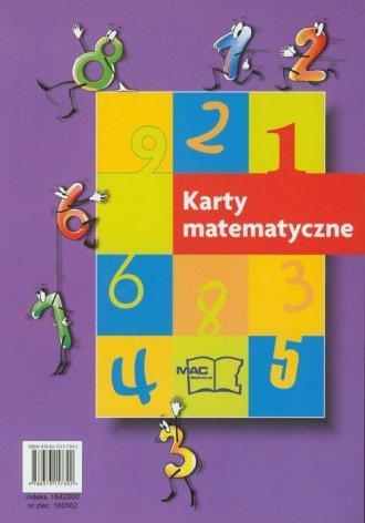 Karty matematyczne. Szkoła sześciolatka - okładka podręcznika