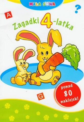 Mała sowa. Zagadki 4-latka - okładka podręcznika