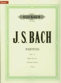 Partitas Nos 1-3 BWV 825-827 - okładka książki