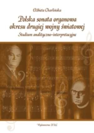 Polska sonata organowa okresu drugiej - okładka książki