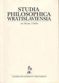 Studia Philosophica Wratislaviensia vol. VII, fasc. 2/2012 - okładka książki