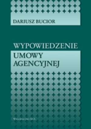 Wypowiedzenie umowy agencyjnej - okładka książki