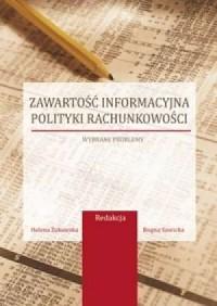 Zawartość informacyjna polityki - okładka książki