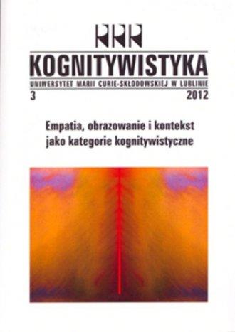 Kognitywistyka 3/2012. Empatia, - okładka książki