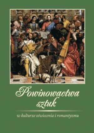Powinowactwa sztuk w kulturze oświecenia - okładka książki