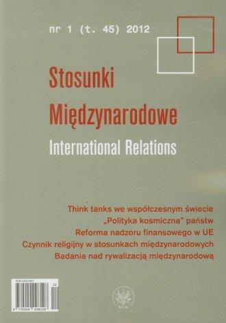 Stosunki Międzynarodowe. International - okładka książki