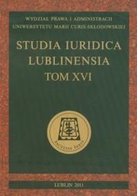 Studia Iuridica Lublinensia. Tom XVI - okładka książki