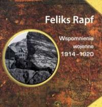 Wspomnienia wojenne 1914-1920 - okładka książki