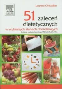 51 zaleceń dietetycznych w wybranych - okładka książki