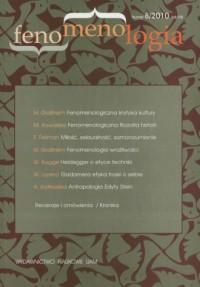 Fenomenologia nr 8/2010 - okładka książki