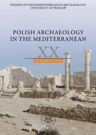 Polish Archaeology in the Mediterranean - okładka książki