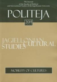 Politeja nr 20/1/2012. Mobility of cultures - okładka książki