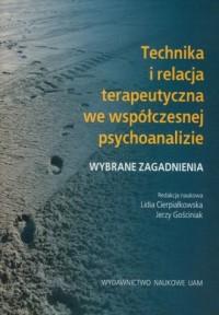 Technika i relacja terapeutyczna - okładka książki