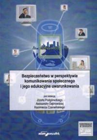 Bezpieczeństwo w perspektywie komunikowania - okładka książki