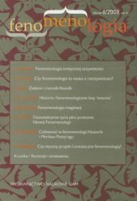 Fenomenologia nr 6/2008 - okładka książki
