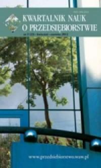 Kwartalnik nauk o przedsiębiorstwie nr 2 (23) kwiecień-czerwiec 2012 - okładka książki