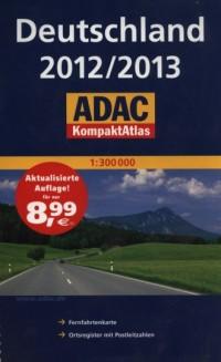 ADAC KompaktAtlas. Deutschland 2012/2013 (skala: 1:300 000) - okładka książki